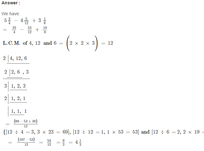 Fraction RS Aggarwal Class 6 Maths Solutions Exercise 5F 16.1