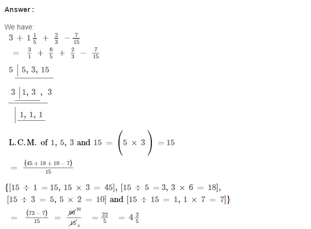 Fraction RS Aggarwal Class 6 Maths Solutions Exercise 5F 21.1