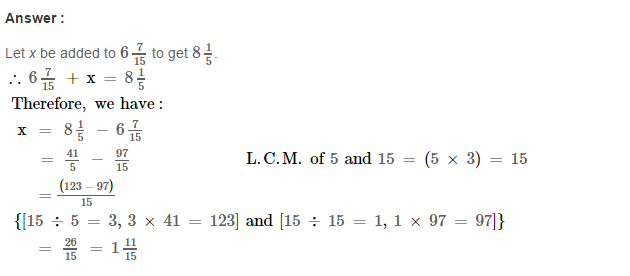 Fraction RS Aggarwal Class 6 Maths Solutions Exercise 5F 23.1
