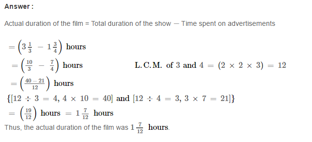 Fraction RS Aggarwal Class 6 Maths Solutions Exercise 5F 27.1