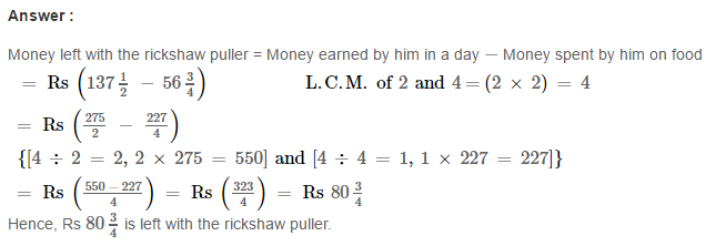Fraction RS Aggarwal Class 6 Maths Solutions Exercise 5F 28.1