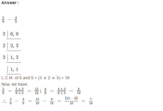Fraction RS Aggarwal Class 6 Maths Solutions Exercise 5F 4.1