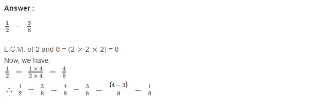 Fraction RS Aggarwal Class 6 Maths Solutions Exercise 5F 5.1