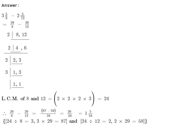 Fraction RS Aggarwal Class 6 Maths Solutions Exercise 5F 8.1
