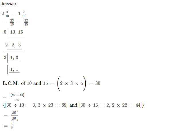 Fraction RS Aggarwal Class 6 Maths Solutions Exercise 5F 9.1