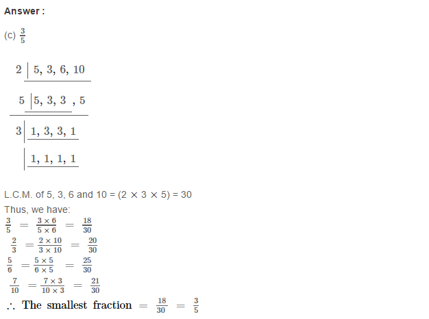 Fraction RS Aggarwal Class 6 Maths Solutions Exercise 5G 10.1
