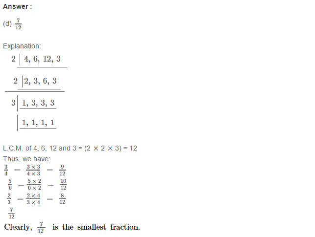Fraction RS Aggarwal Class 6 Maths Solutions Exercise 5G 13.1