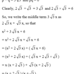 How To Factorise A Polynomial By Splitting The Middle Term 1