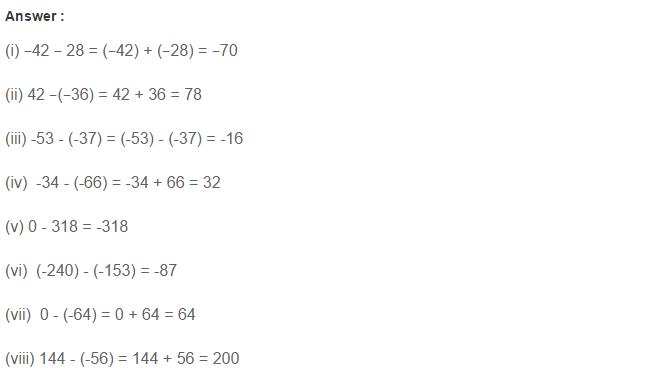 Integers Rs Aggarwal Class 7 Math Solutions Cbse Maths