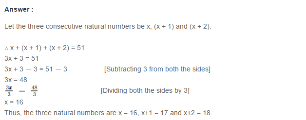 Linear Equation In One Variable RS Aggarwal Class 6 Maths Solutions CCE Test Paper 9.1
