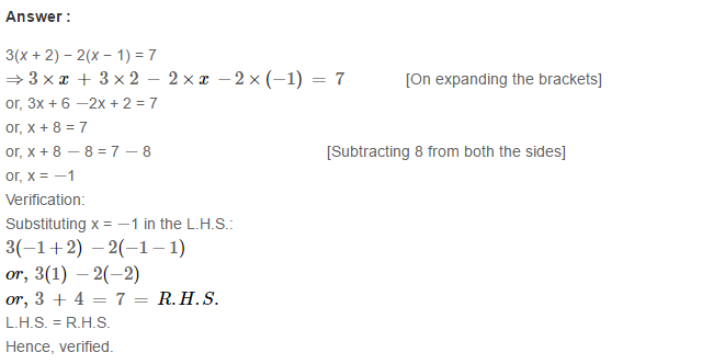 Linear Equation In One Variable RS Aggarwal Class 6 Maths Solutions Ex 9B 15.1