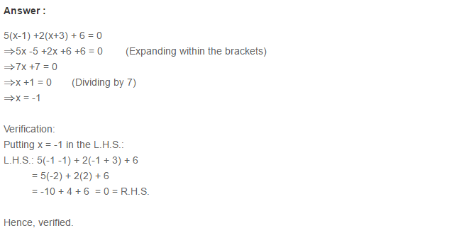 Linear Equation In One Variable RS Aggarwal Class 6 Maths Solutions Ex 9B 16.1