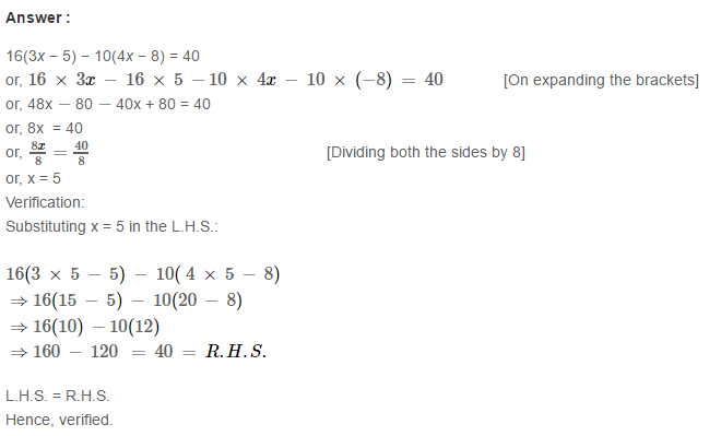 Linear Equation In One Variable RS Aggarwal Class 6 Maths Solutions Ex 9B 18.1