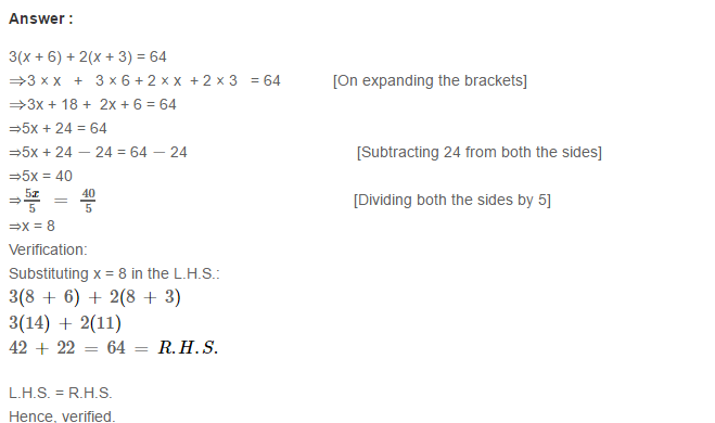 Linear Equation In One Variable RS Aggarwal Class 6 Maths Solutions Ex 9B 19.1