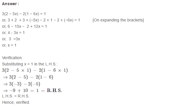 Linear Equation In One Variable RS Aggarwal Class 6 Maths Solutions Ex 9B 20.1