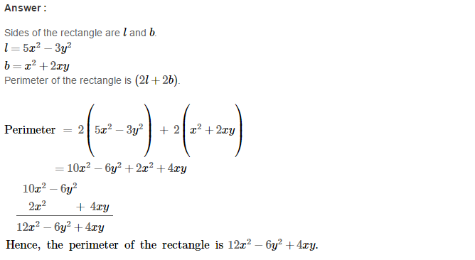 Operations On Algebraic Expressions RS Aggarwal Class 8 Maths Solutions Ex 6A 19.1