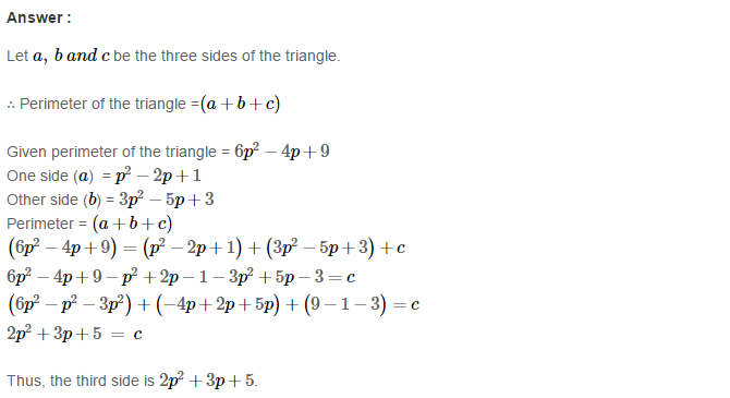 Operations On Algebraic Expressions RS Aggarwal Class 8 Maths Solutions Ex 6A 20.1