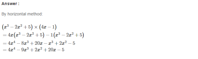 Operations On Algebraic Expressions RS Aggarwal Class 8 Maths Solutions Ex 6B 19.1