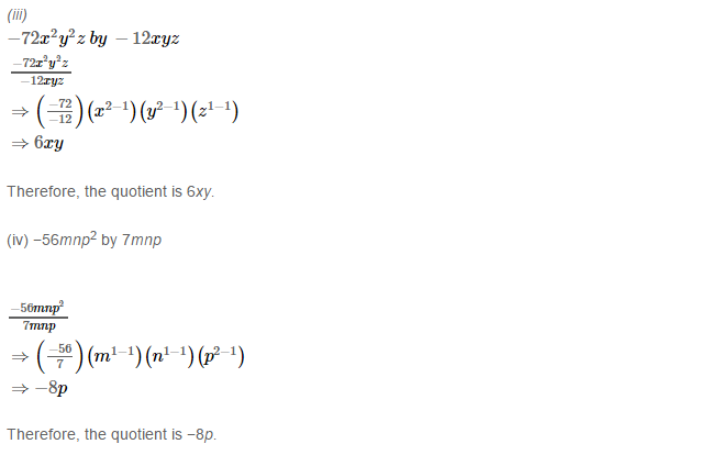 Operations On Algebraic Expressions RS Aggarwal Class 8 Maths Solutions Ex 6C 1.2