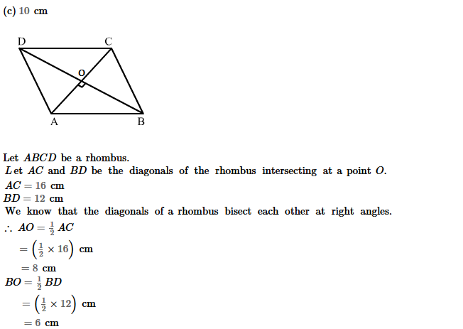 Parallelograms RS Aggarwal Class 8 Maths Solutions Exercise 16B 2.1