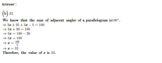 Parallelograms RS Aggarwal Class 8 Maths Solutions Exercise 16B 3.1