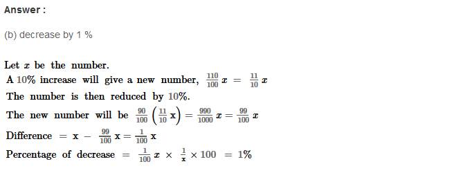 Percentage RS Aggarwal Class 8 Maths Solutions Ex 9B 12.1