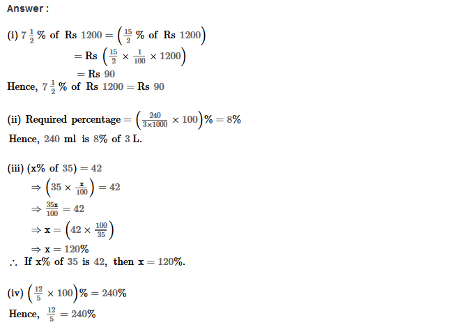 Percentage RS Aggarwal Class 8 Maths Solutions Ex 9C 13.1