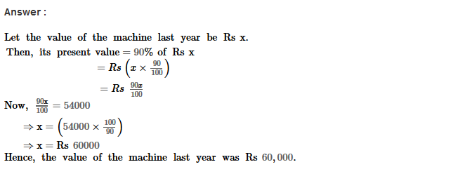 Percentage RS Aggarwal Class 8 Maths Solutions Ex 9C 3.1