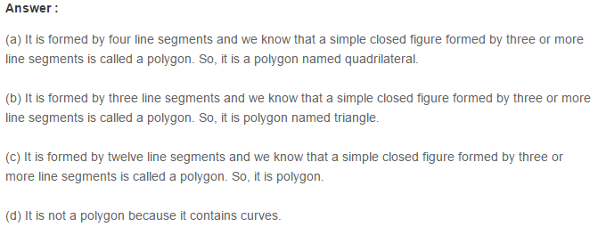 Polygons RS Aggarwal Class 6 Maths Solutions 2.1