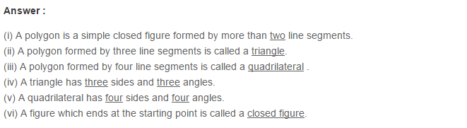 Polygons RS Aggarwal Class 6 Maths Solutions 3.1