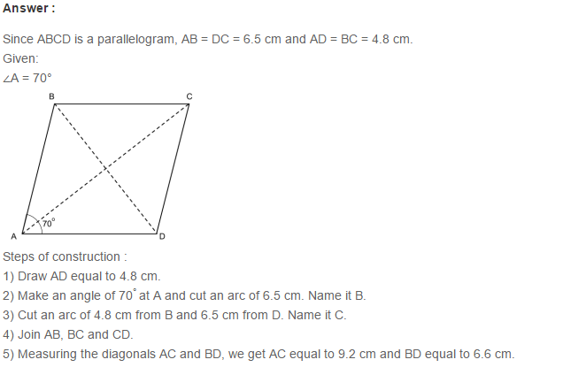 Quadrilaterals RS Aggarwal Class 6 Maths Solutions Exercise 17A 2.1