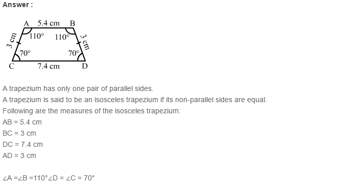 Quadrilaterals RS Aggarwal Class 6 Maths Solutions Exercise 17A 5.1