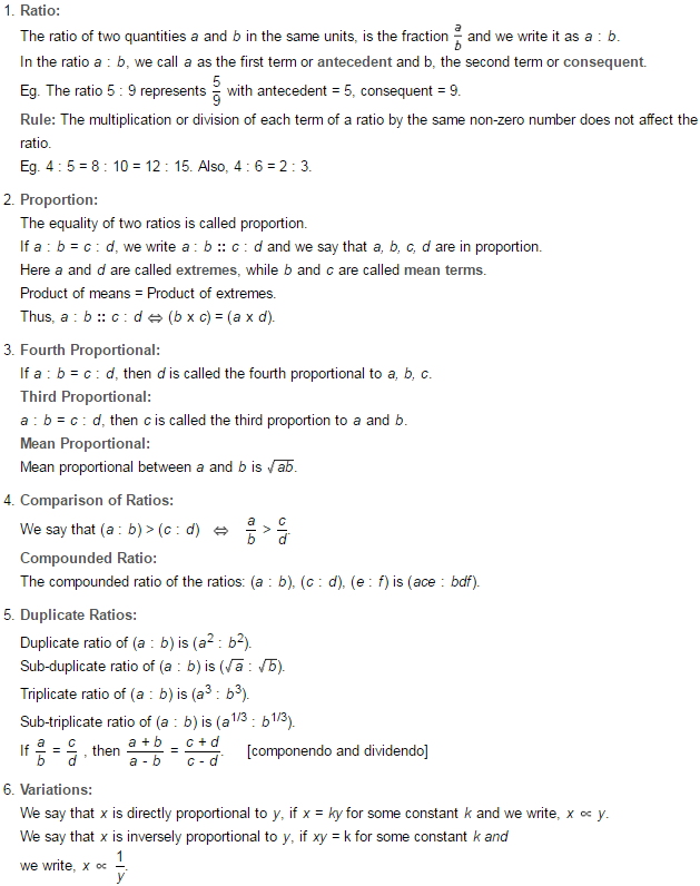 Printable Worksheets ratio proportion and percent worksheets : Ratio and Proportion RS Aggarwal Class 7 Maths Solutions Exercise 8A
