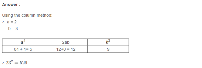 Squares and Square Roots RS Aggarwal Class 8 Maths Solutions Exercise 3C 1.1