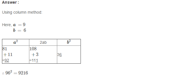 Squares and Square Roots RS Aggarwal Class 8 Maths Solutions Exercise 3C 4.1