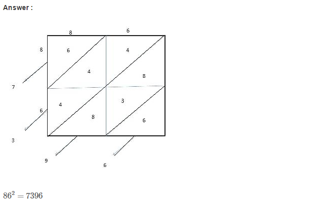 Squares and Square Roots RS Aggarwal Class 8 Maths Solutions Exercise 3C 6.1