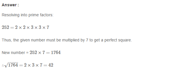 Squares and Square Roots RS Aggarwal Class 8 Maths Solutions Exercise 3D 13.1