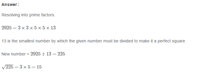 Squares and Square Roots RS Aggarwal Class 8 Maths Solutions Exercise 3D 14.1