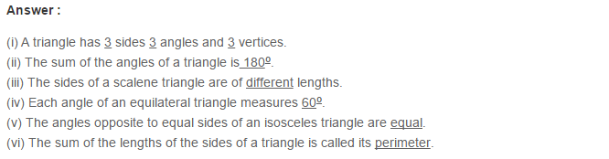 Triangles RS Aggarwal Class 6 Maths Solutions Exercise 16A 12.1