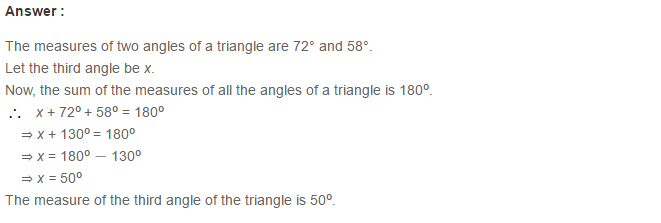 Triangles RS Aggarwal Class 6 Maths Solutions Exercise 16A 2.1