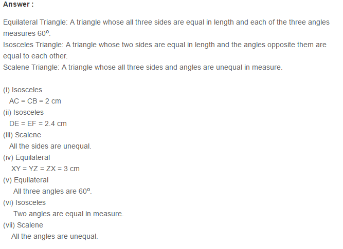 Triangles RS Aggarwal Class 6 Maths Solutions Exercise 16A 9.1
