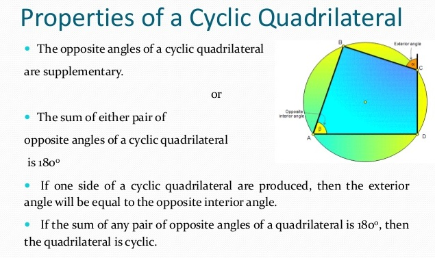 What Are The Properties Of Cyclic Quadrilaterals A Plus