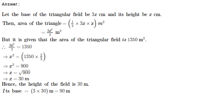 Area of Trapezium and Polygon RS Aggarwal Class 8 Maths Solutions CCE Test Paper 1.1