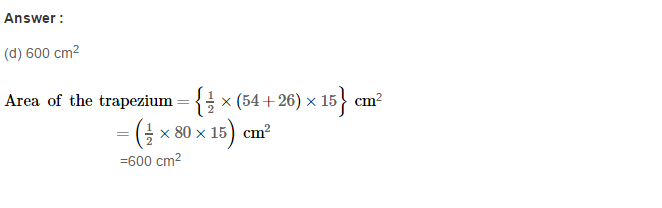 Area of Trapezium and Polygon RS Aggarwal Class 8 Maths Solutions CCE Test Paper 12.1