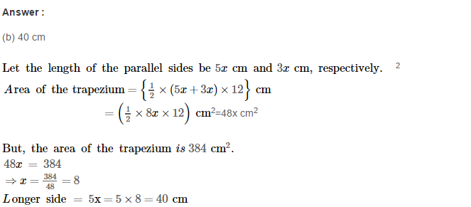 Area of Trapezium and Polygon RS Aggarwal Class 8 Maths Solutions CCE Test Paper 13.1