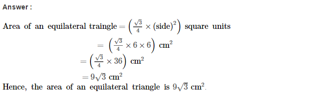 Area of Trapezium and Polygon RS Aggarwal Class 8 Maths Solutions CCE Test Paper 2.1
