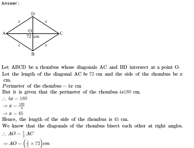 Area of Trapezium and Polygon RS Aggarwal Class 8 Maths Solutions CCE Test Paper 3.1