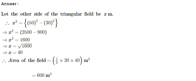 Area of Trapezium and Polygon RS Aggarwal Class 8 Maths Solutions CCE Test Paper 6.1