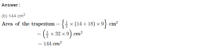 Area of Trapezium and Polygon RS Aggarwal Class 8 Maths Solutions Ex 18C 1.1