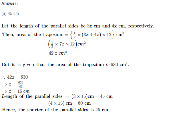 Area of Trapezium and Polygon RS Aggarwal Class 8 Maths Solutions Ex 18C 3.1